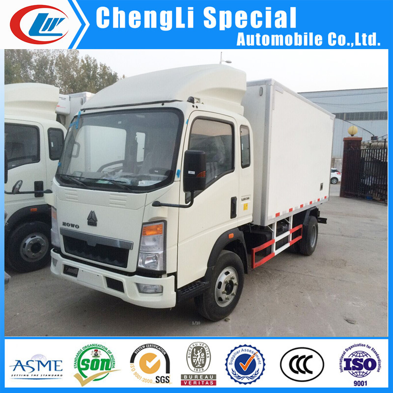 d2e50ea1cf China Sinotruk HOWO 4X2 4t Refrigerated Freeze Cooler Van Truck for ...