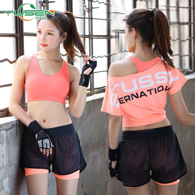 451ca03c9b9 Sport Clothing Women Sport Suit Running Set Gym Clothing Sportswear Yoga  Set Gym Wear Fitness Suit Yoga Clothes Gym Suit