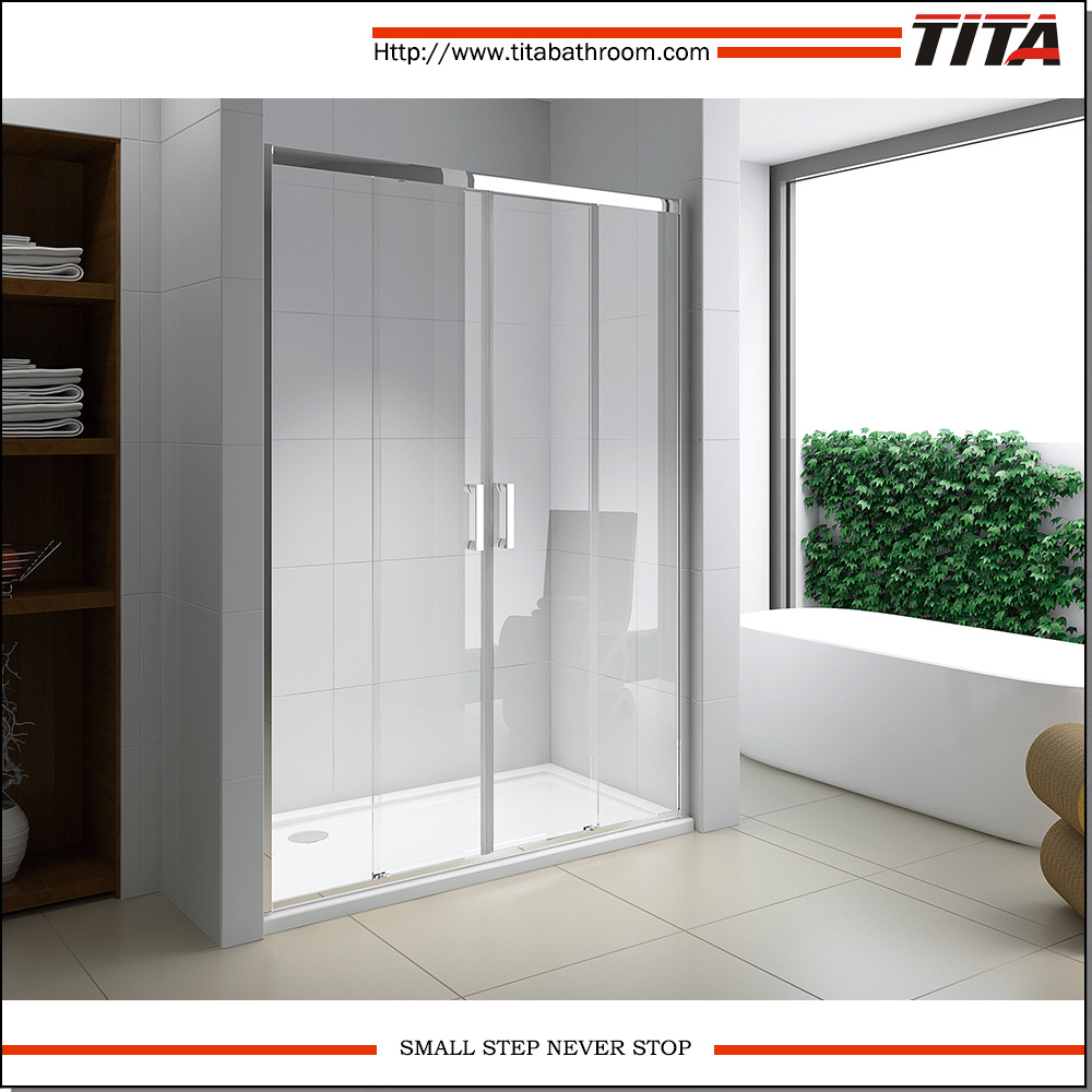 China Modern Folding Glass Shower Doors Crystal D1 China Folding