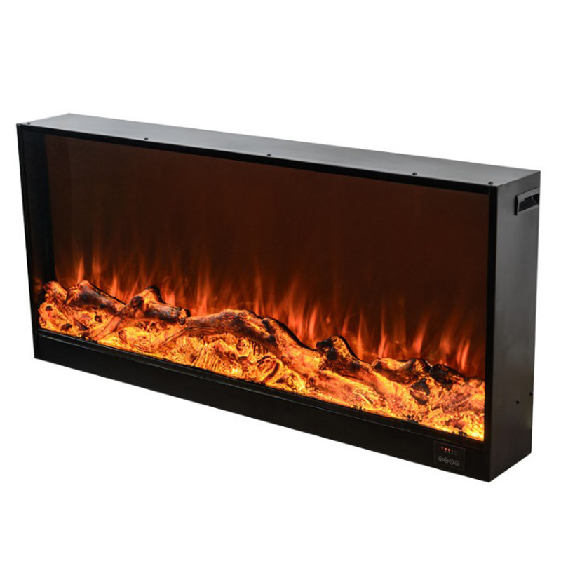 China White Electric Fireplaces Heater Electric Wall Fireplace