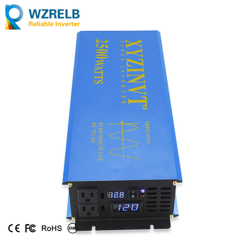 WZRELB 2500w Watt Pure Sine Wave Solar Power Inverter 48V to 120V Voltage Converter Generator Home Power Supply Car Inverter Adaptor