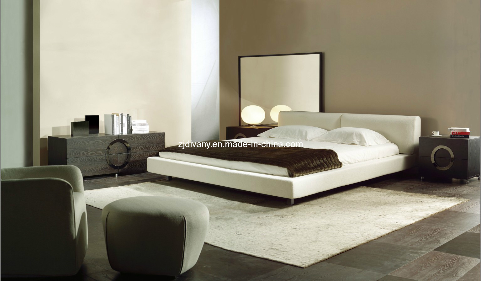 China modern italian style bed set bedroom furniture china leather queen bed modern double bed
