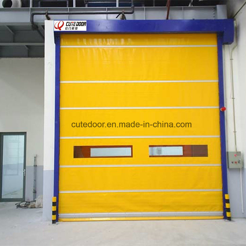 Industrial PVC Fabric Ordinary Fast Roller Shutter Door pictures & photos