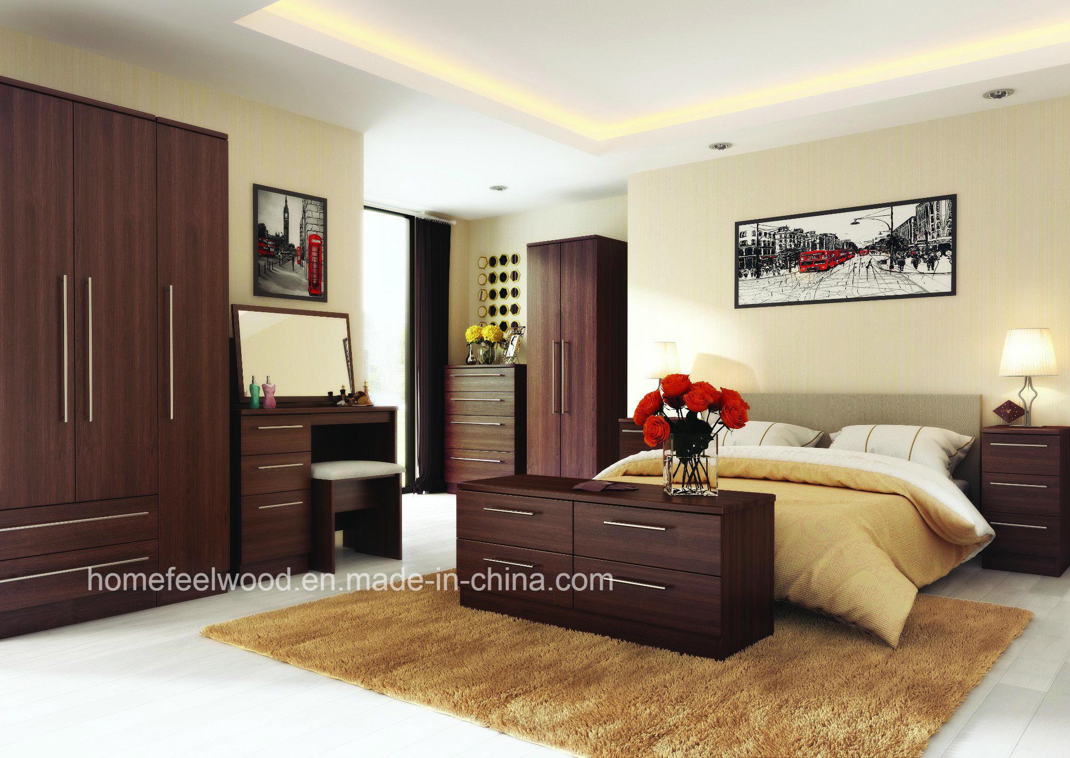 China Factory Direct Modern Design Home Bedroom Furniture Set Hf