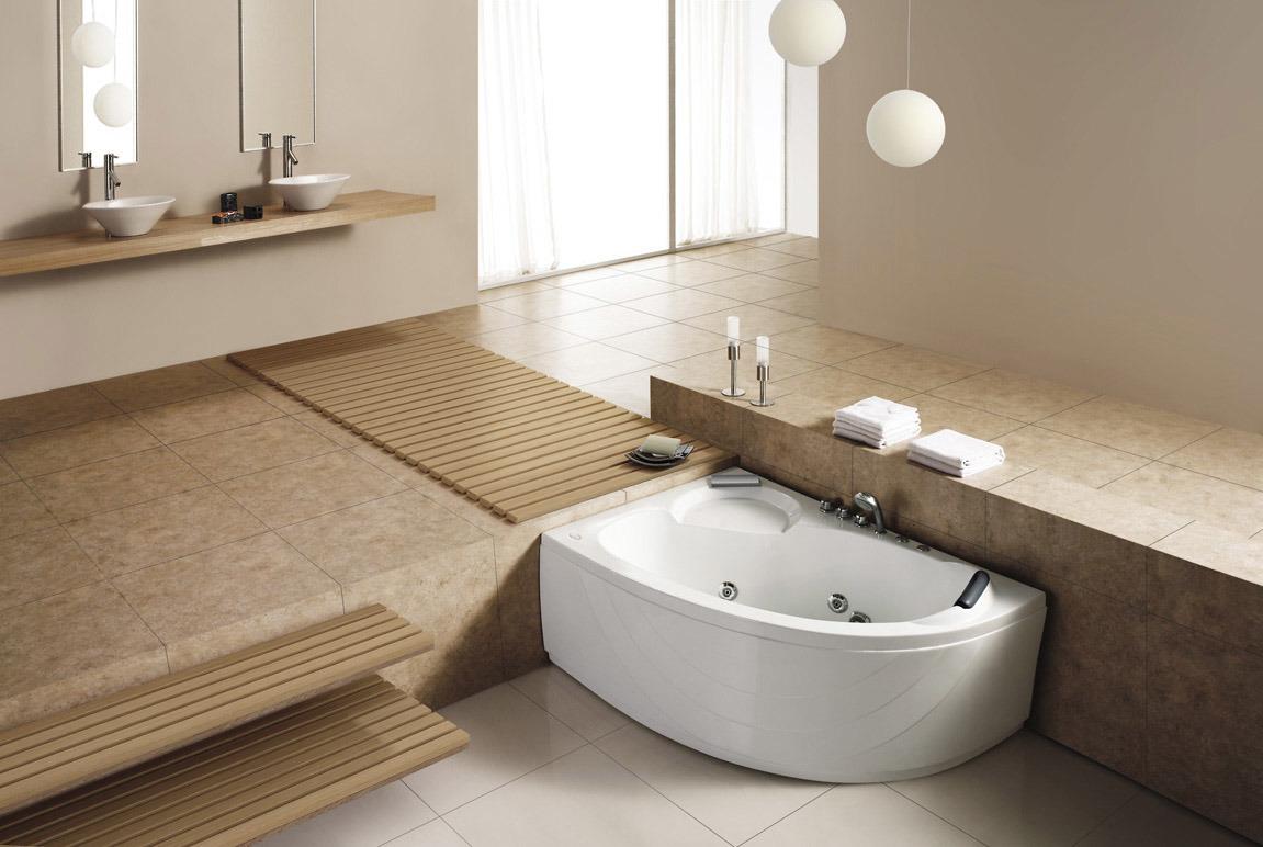 China Monalisa Bathroom Corner Acrylic Hot Tub Jacuzzi Bathtub ...