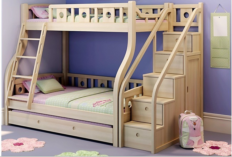 China 2012 Most Hot Wooden Bunk Bed With Pull Out Bed 07019 China Wooden Bunk Bed Wooden Bedroom Sets