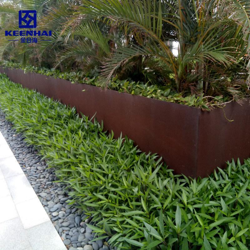 China Corten Steel Panel Edging, Garden Wall Edging
