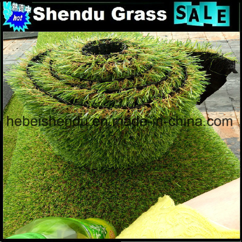 U Shape Yarn Synthetic Turf 40mm 4 Tone Grass Color