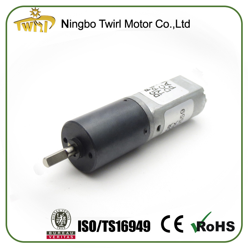 12V 16mm DC Gearmotor with Gearbox Reduction