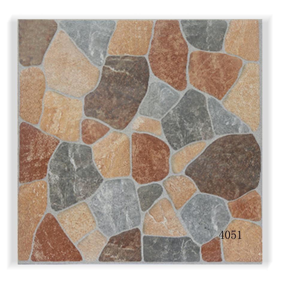 China 400x400mm Decorative Ceramic Rustic Bathroom Floor Tile Photos