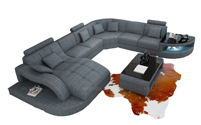 Genuine Leather Sectional Sofa Set