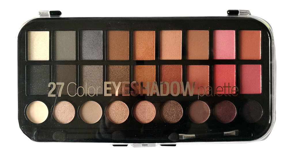 Hot Selling Hight Quality Premier OEM/ODM Customized 27 Color Cosmetics Eyeshadow Palette with Highlighter, Matte, Shimmer