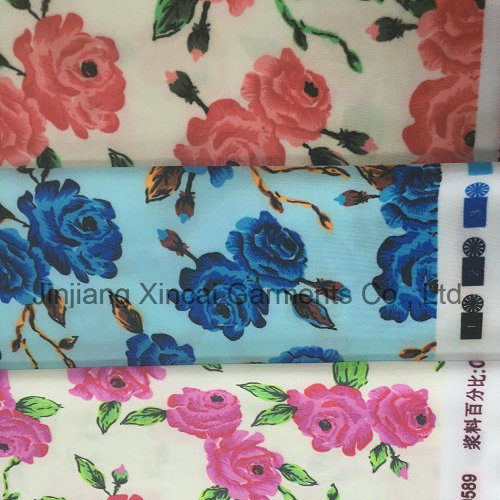 50d Polyester Flowers Knitted Printing 88%Polyester 12%Spandex Fabric for Swimwear
