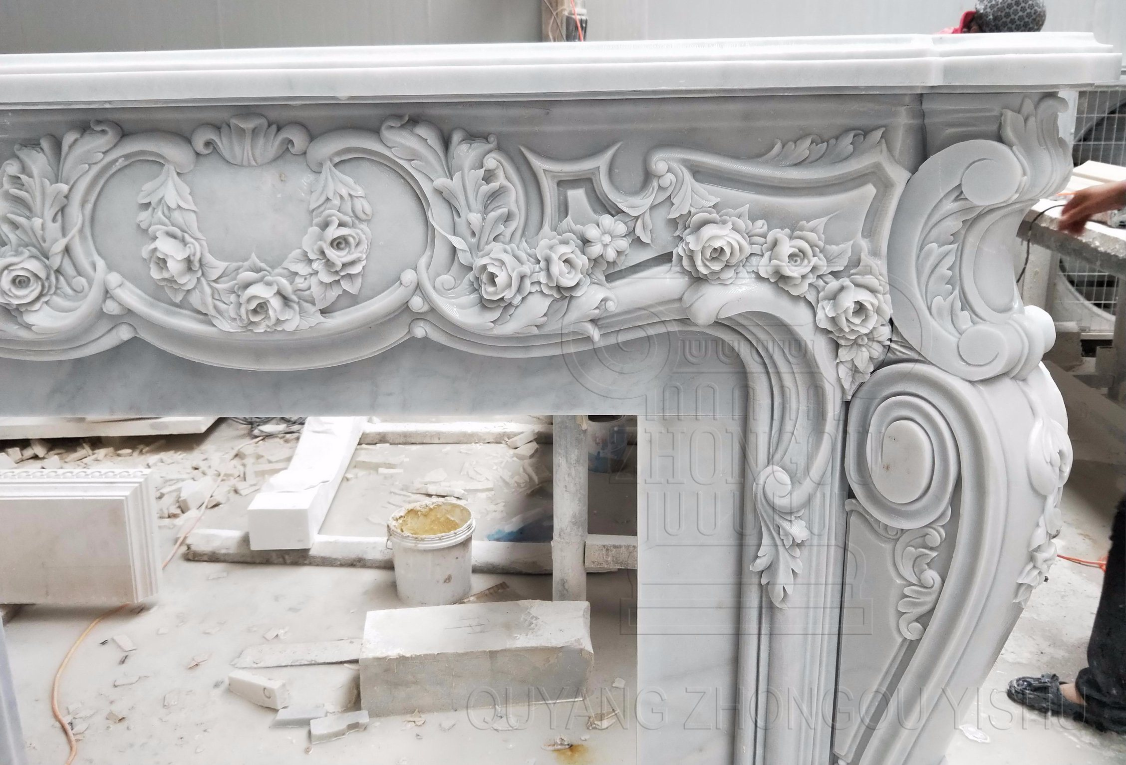 China Carving Granite Marble Stone Fireplace For Home Decoration Photos Pictures Made In China Com