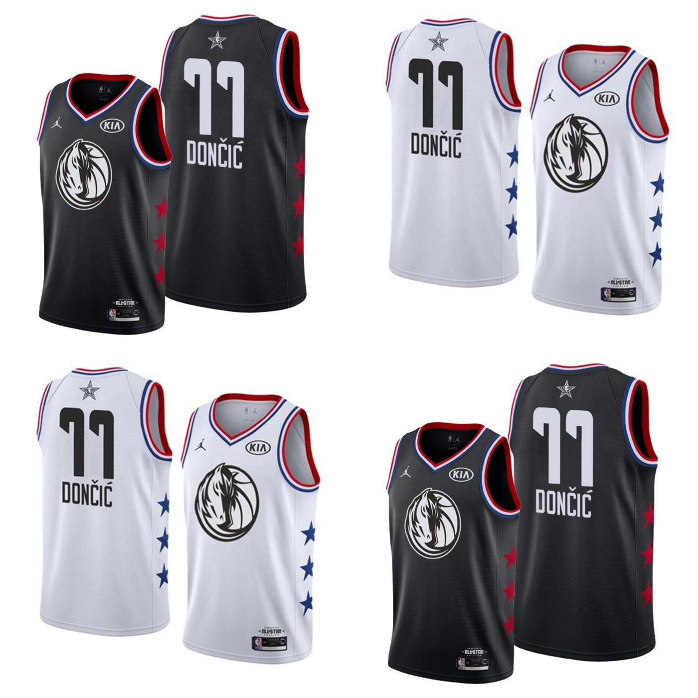newest 88ca5 d48b8 [Hot Item] Wholesale 2019 N-B-a All-Star 77 Luka Doncic Replica Basketball  Jerseys