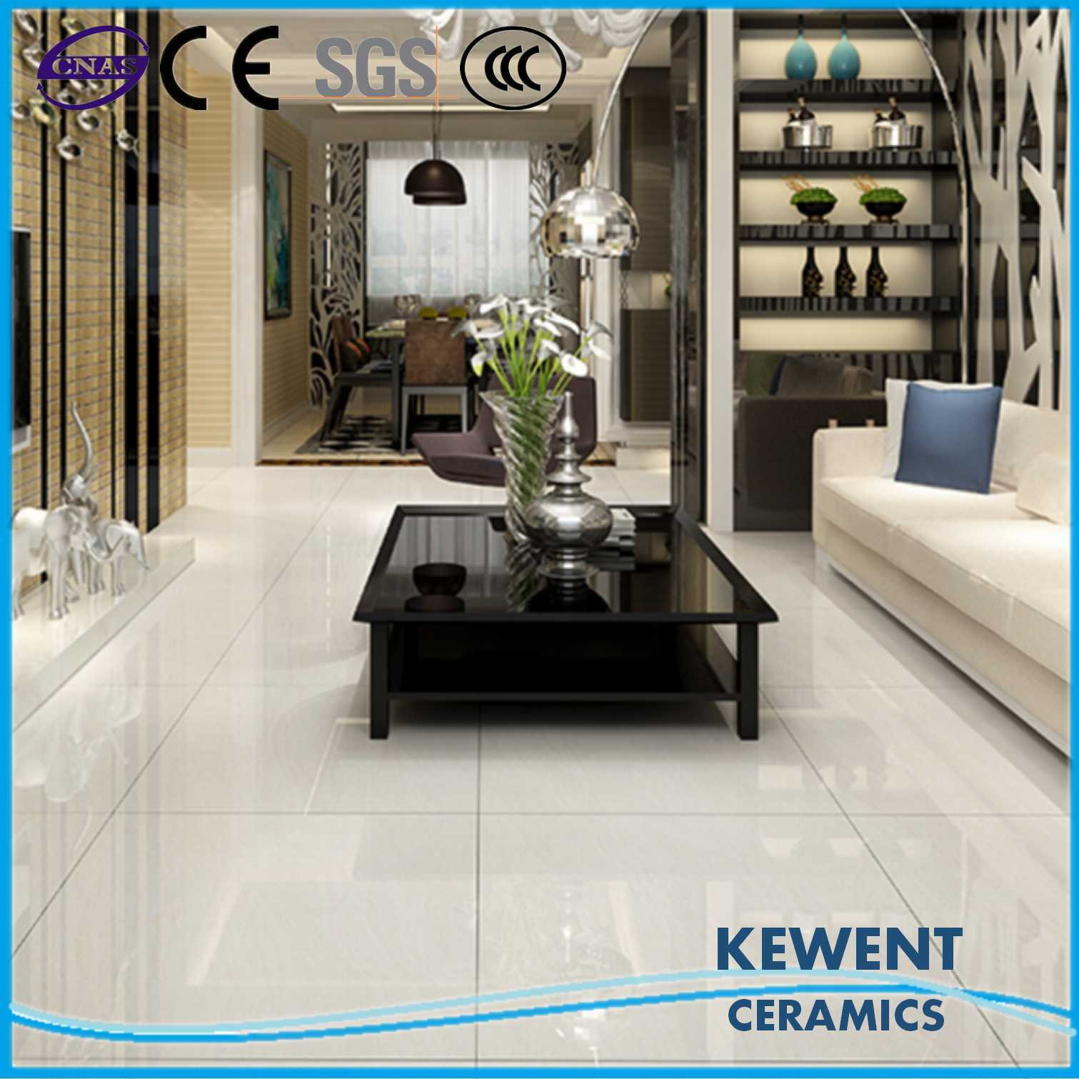 600*600mm White Double Loading Tulip Barossa Series Polished Porcelain Floor Tile pictures & photos