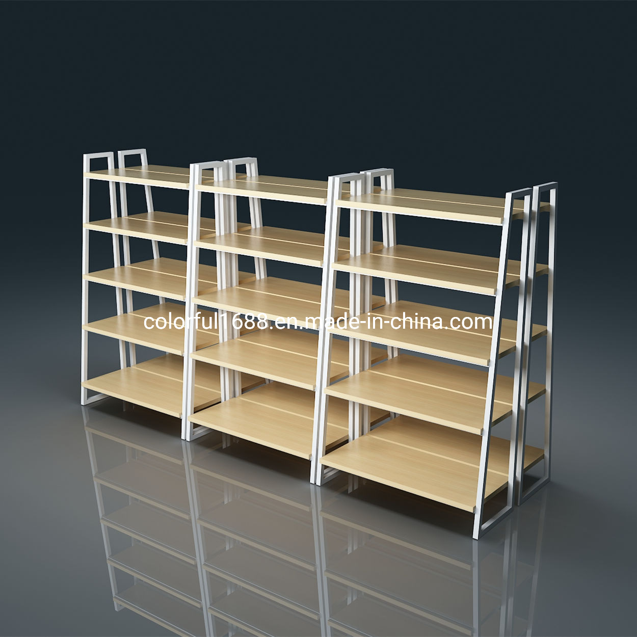 China Custom Diy Supermarket Wooden Convennience Store Rack