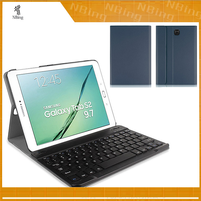 [Hot Item] Book Cover for Samsung Tablet Covers with Bluetooth Keyboard  Wireless