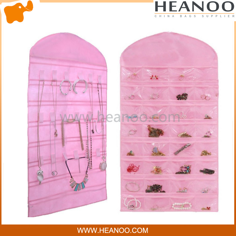 Jewelry Non Woven Cosmetic Hanging Storage Organizer Pocket Closet Bag pictures & photos