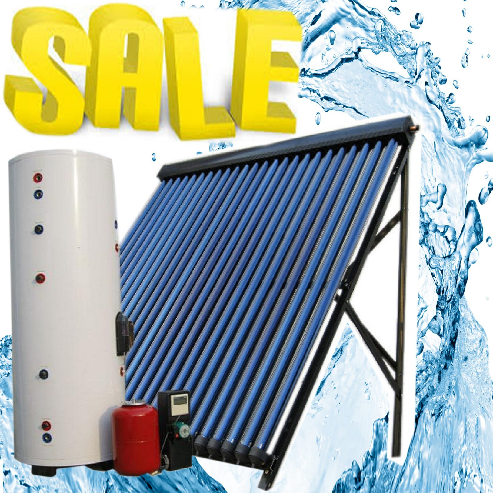 China Split High Pressurized Solar Water Heater Collector Solar ...