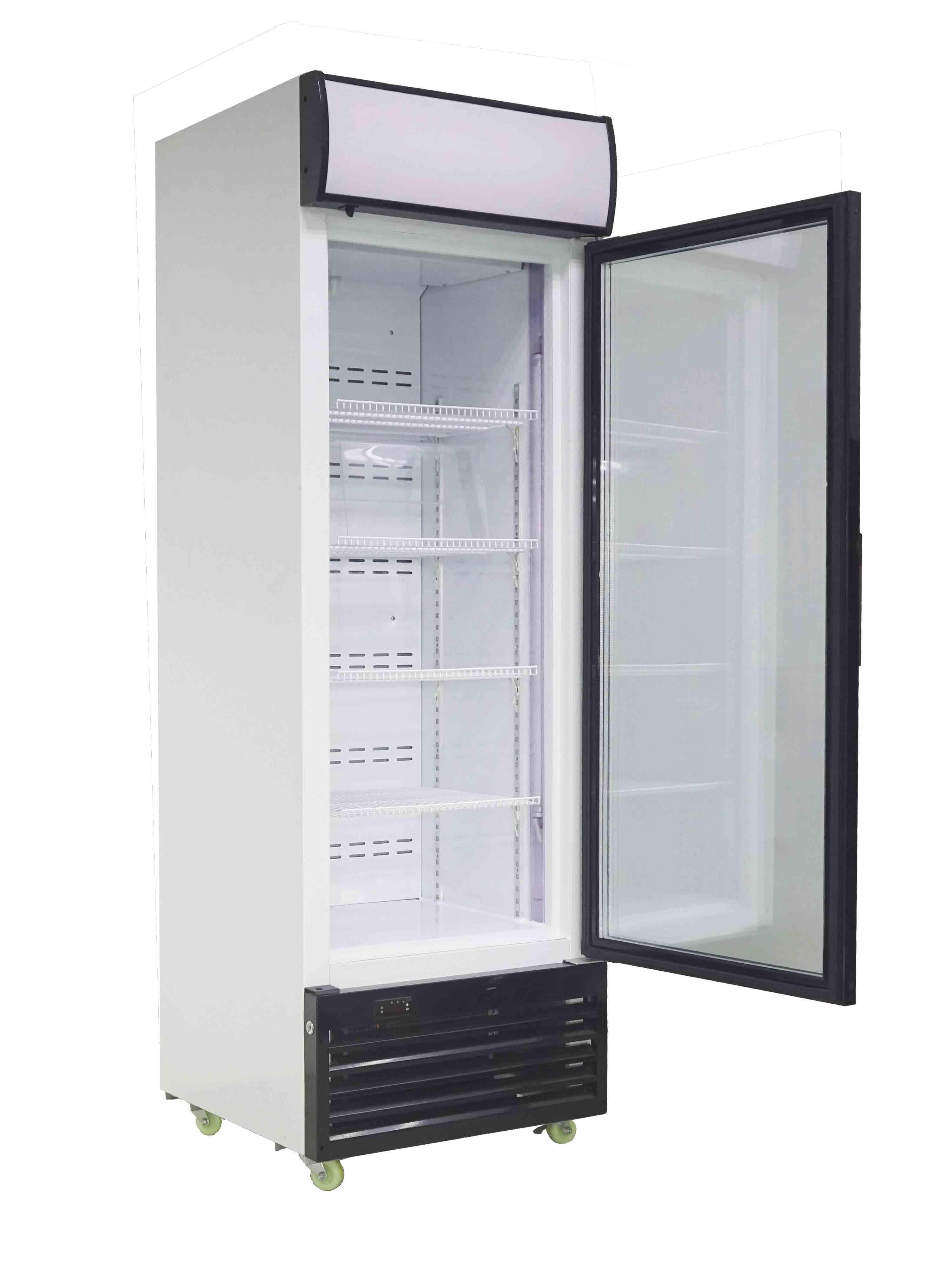 China Flash Single Glass Door Display Freezer Commercial Freezer