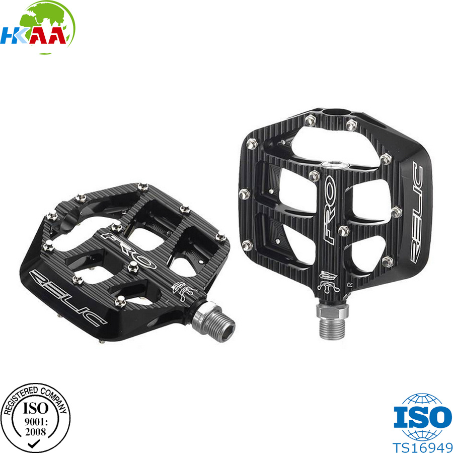 High Quality Factory Price Black Color Aluminum CNC Machined Bicycle Pedals