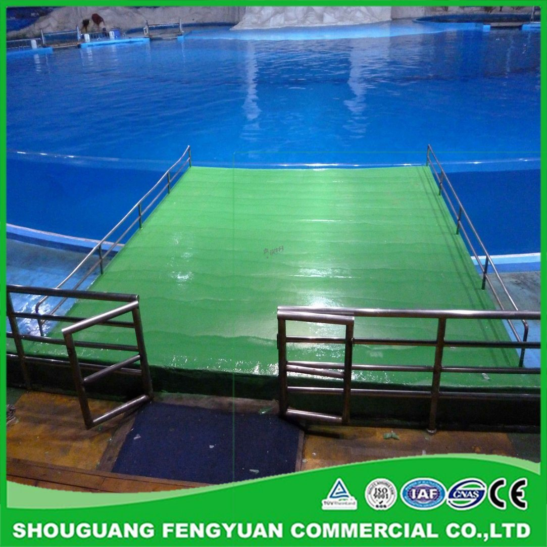 What is the coating made on sports fields 4