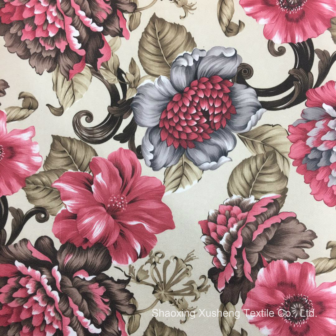 china 2018 flower patterns sofa fabric used for home textiles