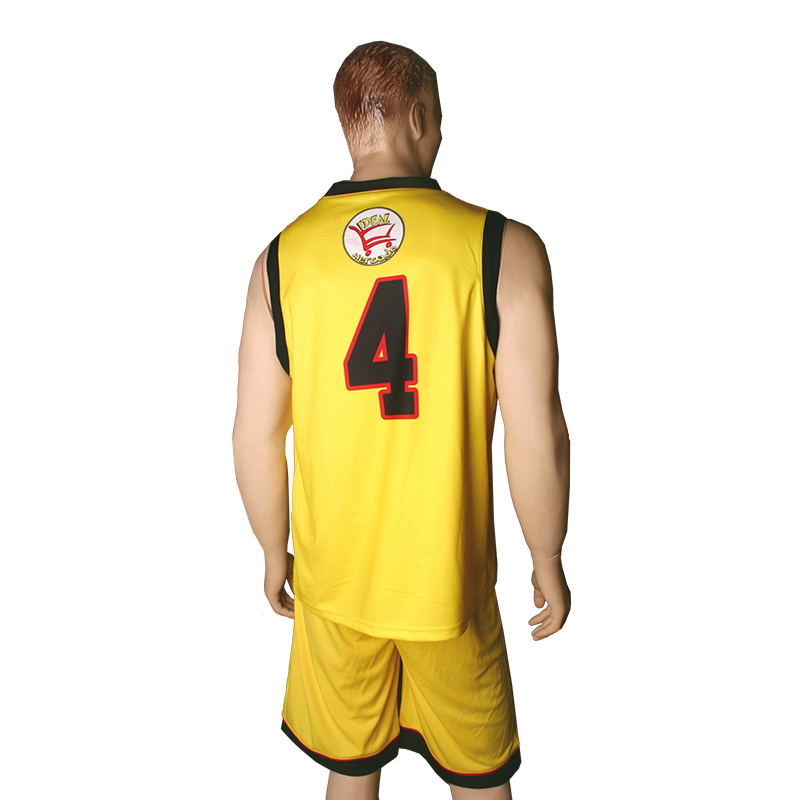 China Custom Basketball Uniform Design Wholesale Black Red