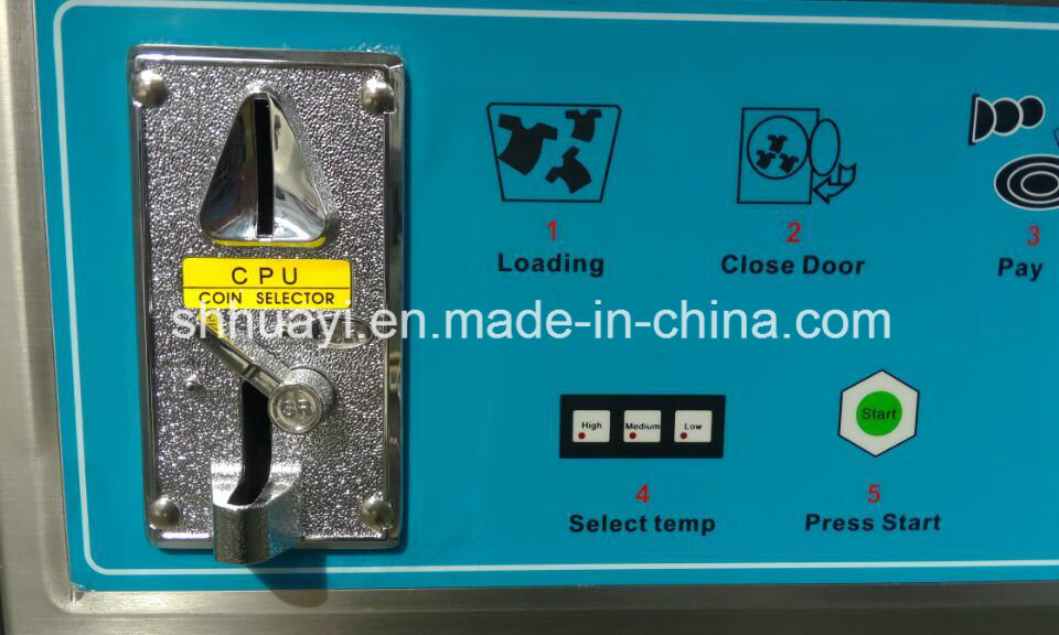 Full Stainless Steel Automatic Coin Operated Washing Machine for Laundry