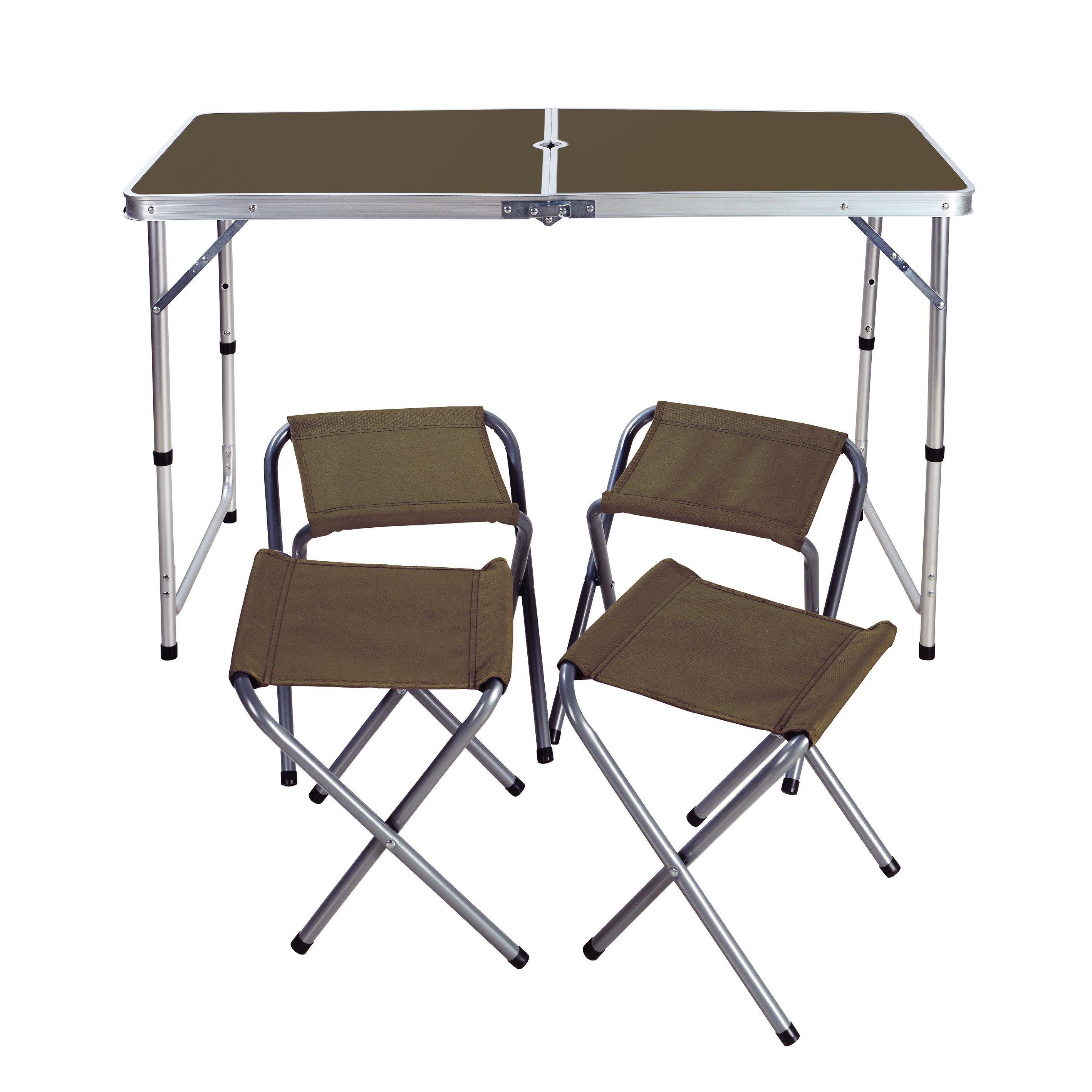 - China Outdoor Folding Table And Chair Sets Self-Driving Portable