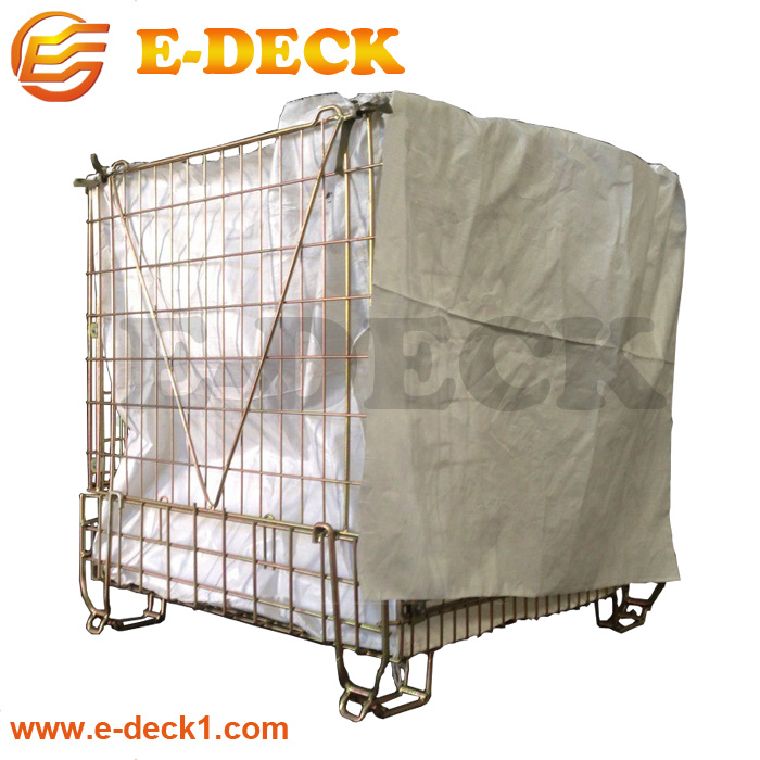 Wholesale Price Logistics Wire Metal Storage Container for Pet Preform Industry with Plastic Sheet pictures & photos