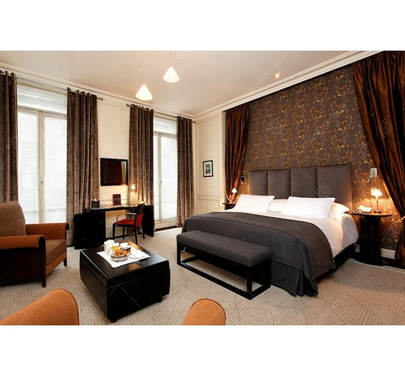 China Classic Luxury Design French Hotel Bedroom Furniture ...