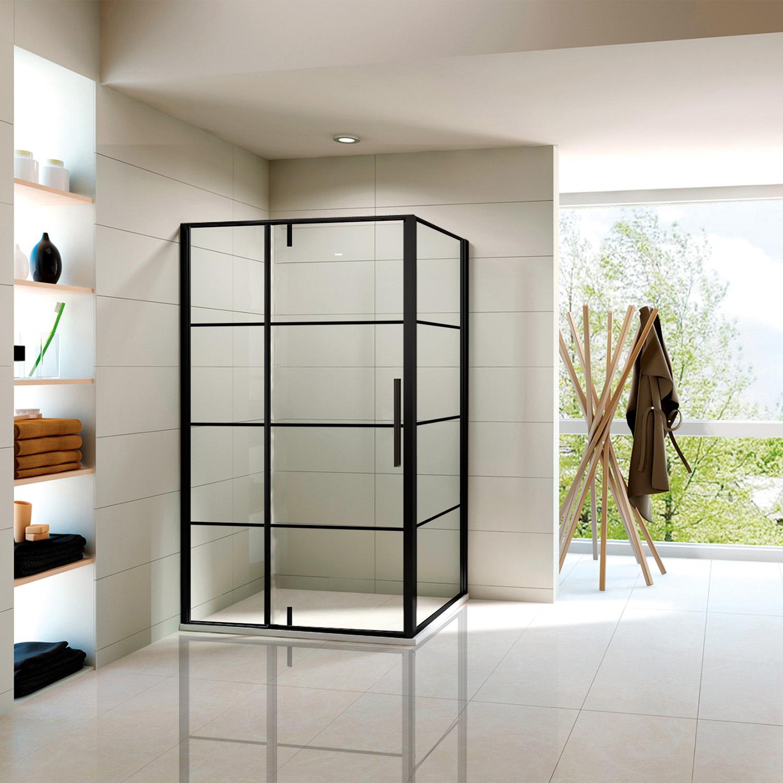 Hot Item Black Pivot Shower Enclosure Room With Aluminum Alloy Wall Profile
