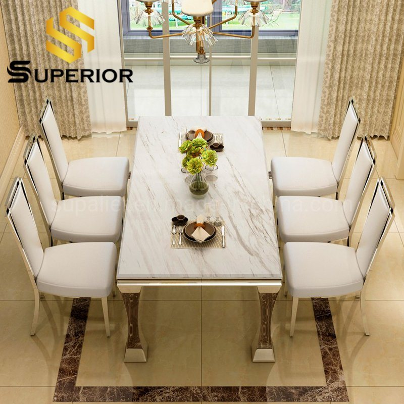 China Home Dining Furniture White, Dining Room Table For 8