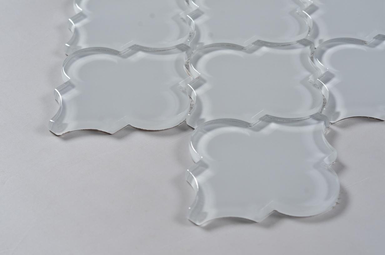 - China 120X100 Types Clear Glass Mosaic Arabesque Lantern Tile