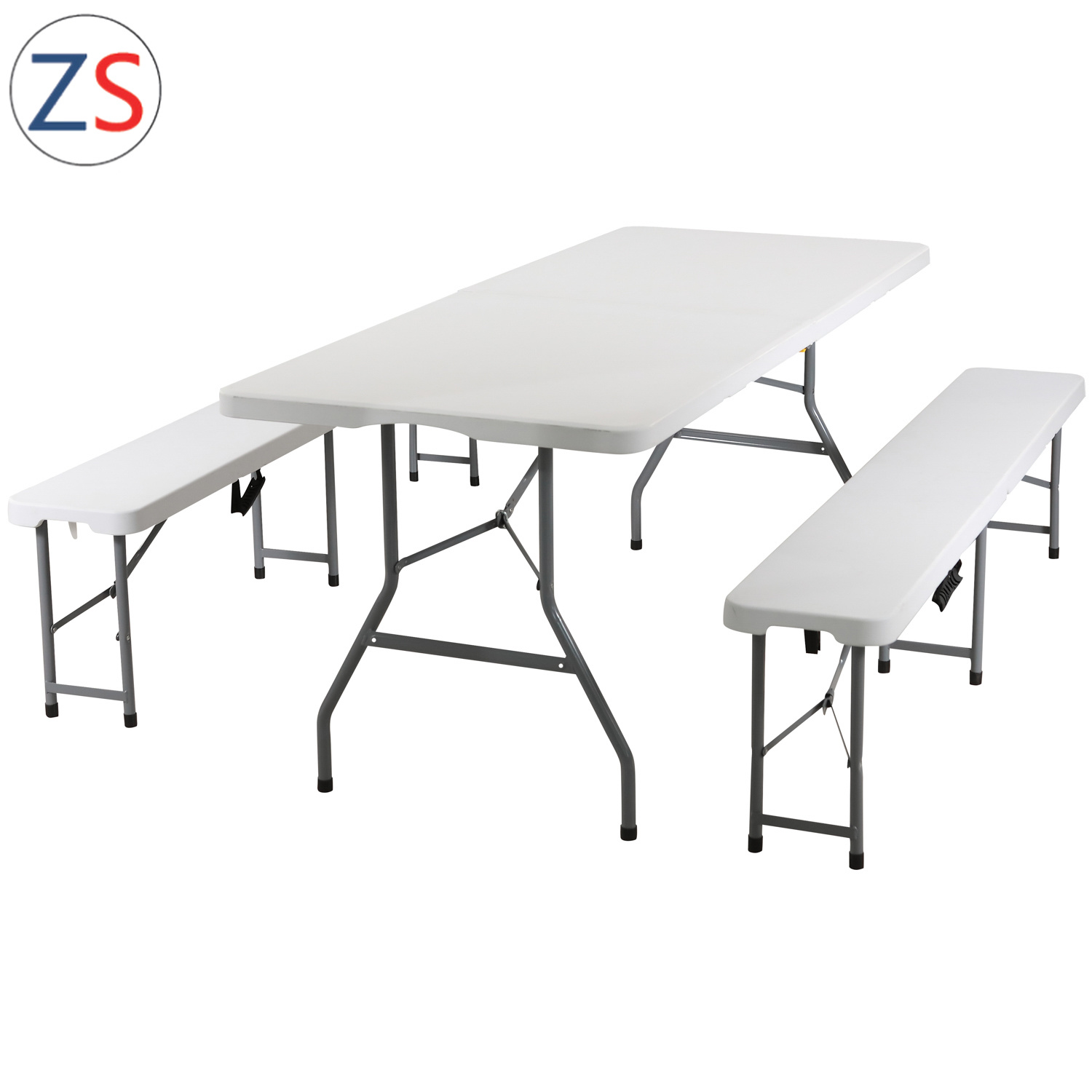 - China Hot! Event Rental Outdoor 6FT Plastic Folding In Half Table