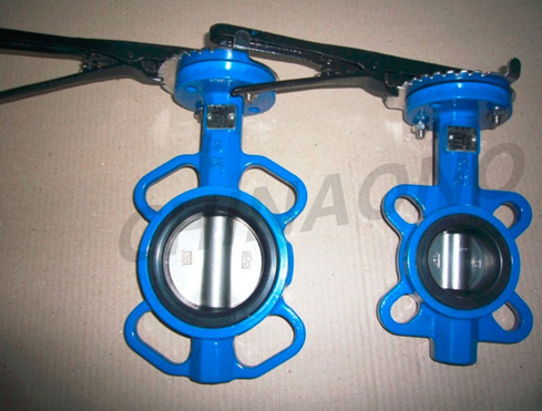 Ductile Iron Cast Iron Wafer Flange Type Butterfly Valve