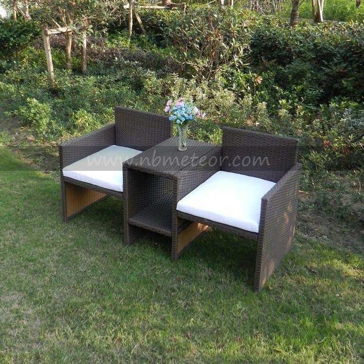 Mtc-223 Kd Style Outdoor Garden Rattan Chair 2 Seat