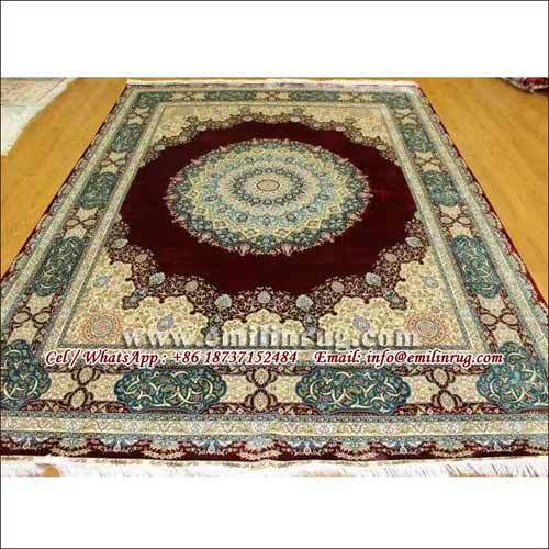 Handmade Silk Rug Carpets for Sale 8X10