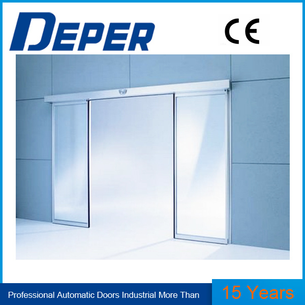 China Automatic Door Control System Double Sliding Door Glass Door