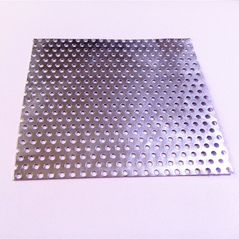 """Perforated Metal Aluminum Mill Sheet 1//8/"""" Thick 12/"""" x 48/"""" x 1//2/"""" Square hole"""