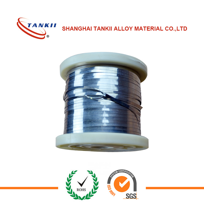 China Constantan alloy Flat wire 6j40 Nickel copper flat wire ...