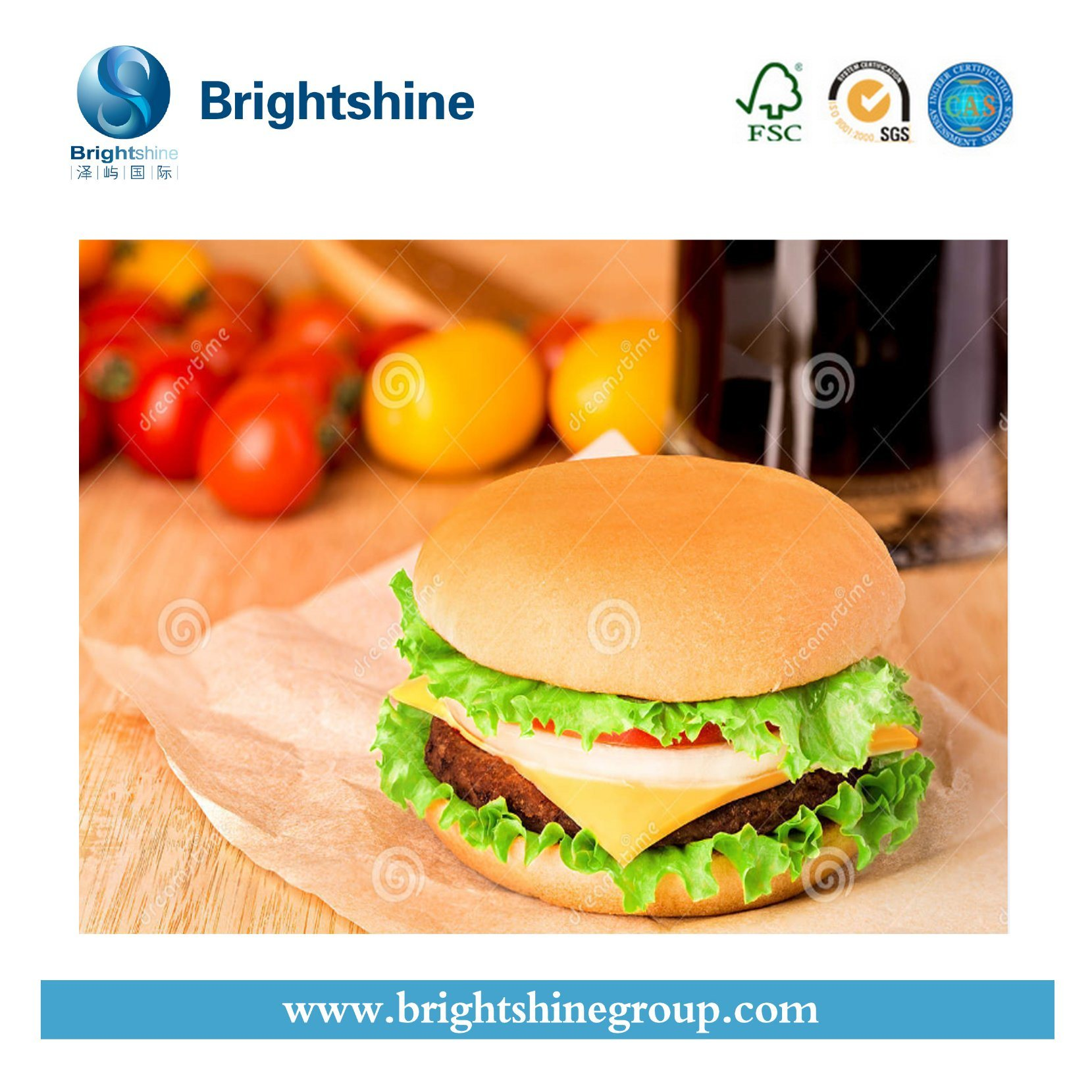 [Hot Item] FDA Approved Food Package Paper, Hamburger Wrapping Paper Roll,  Chicken Paper