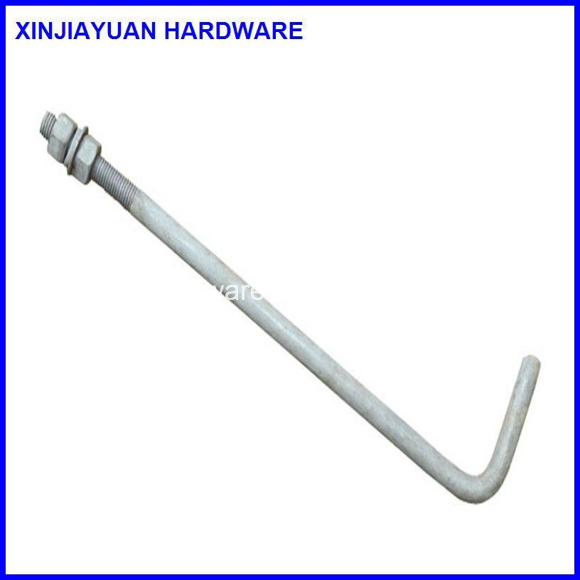 Light Pole Anchor Bolts: China L Type Anchor Bolt / L Foundation Bolt With Nuts