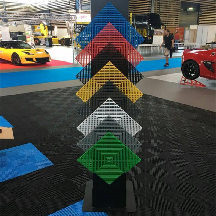 China Qingdao King Interlocking Garage Floor Covering PVCPP Tile - Car show floor covering