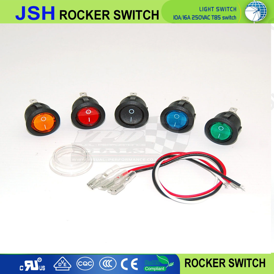 China On Off Round Rocker Switch Dc 20a 12v Car Boat Motorcycle Wiring Spst 16a 125vac