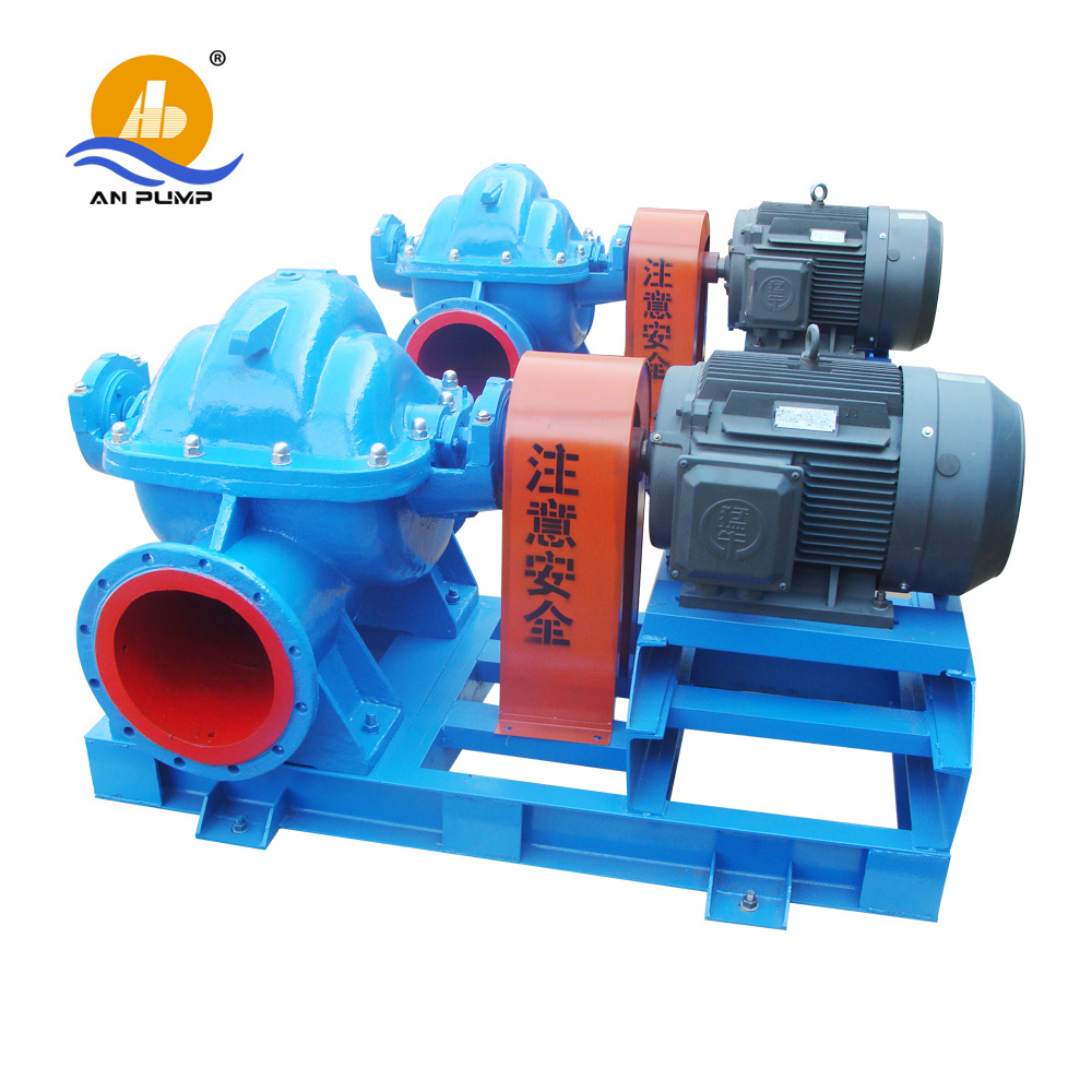 China Large Flow Rate Double Suction 75HP Power Pump for