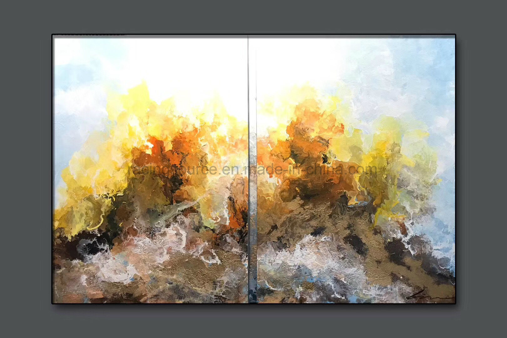 China Hotel Wall Decor Abstract Oil Painting Canvas Art for Sale ...