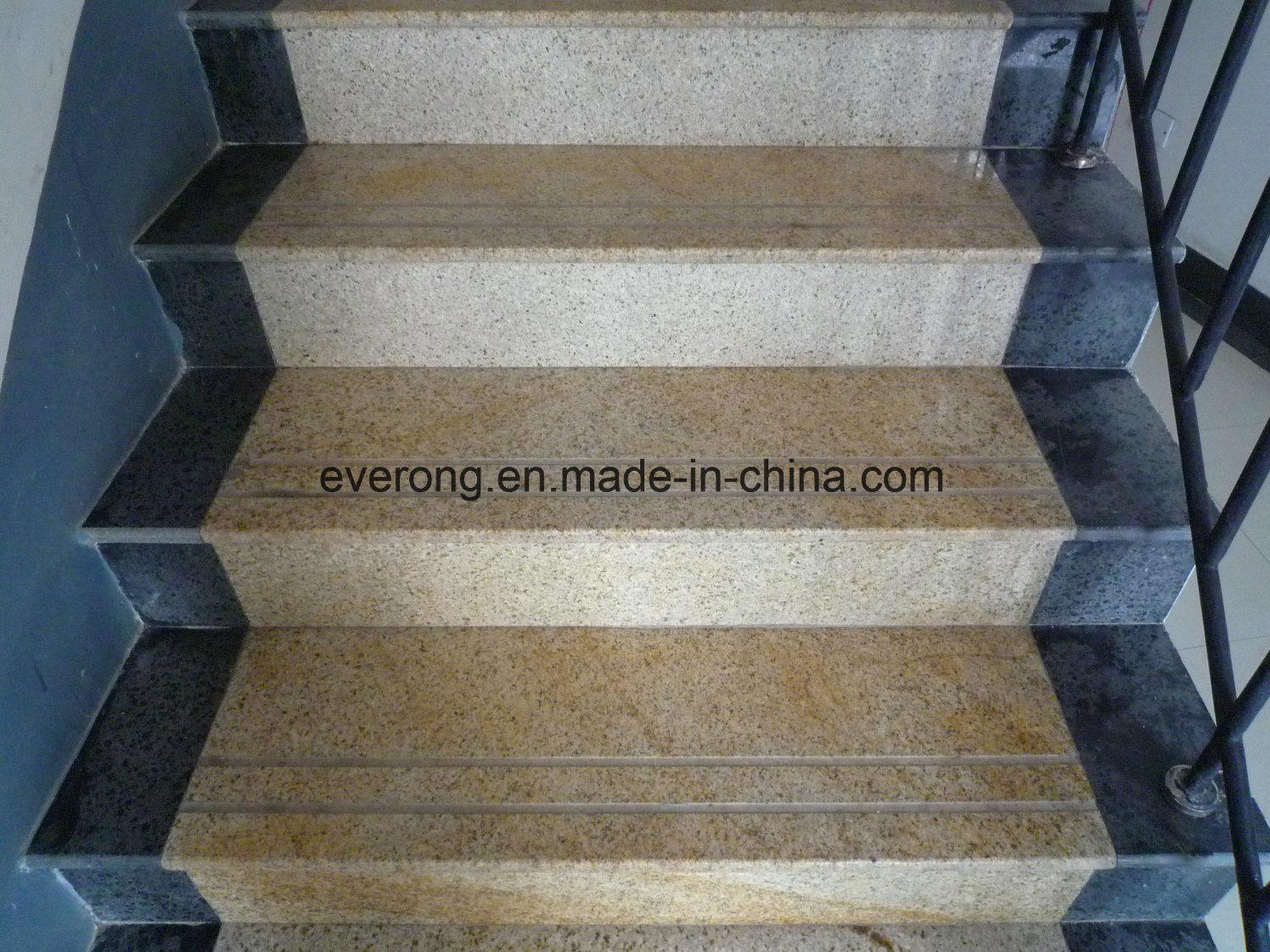 Mixed Color Granite Design Tile Full Polished Glazed Step/Stair/Tread Tile  Indoor Decoration